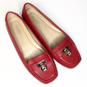 Michael Kors Red Driving Loafers Flats Shoes 7